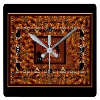 Relógio Quadrado Nação Cherokee