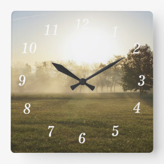 Relógio Quadrado Névoa da manhã de Ozarks