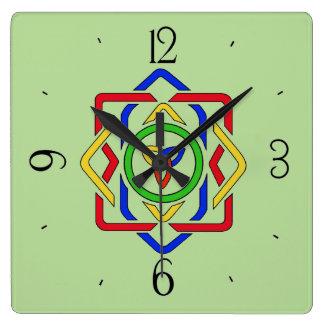 Relógio Quadrado Nó celta da trindade