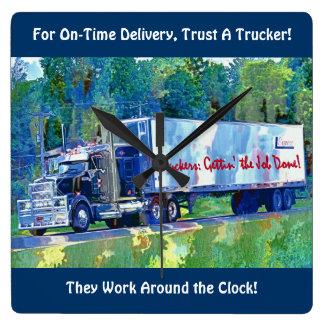 Relógio Quadrado No pulso de disparo de parede do caminhão da carga