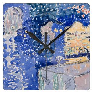 Relógio Quadrado Noite de Veneza do festival do redentor