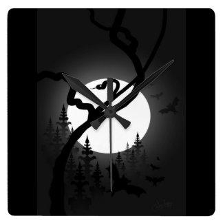 Relógio Quadrado Noite Enchanted