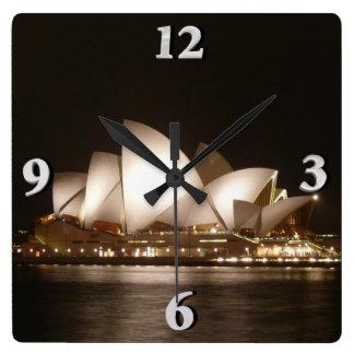 Relógio Quadrado Noite na ópera