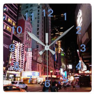 Relógio Quadrado Nova Iorque 2017 da avenida de Amsterdão