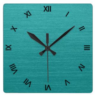 Relógio Quadrado Numerais romanos escovados do olhar kash001 do