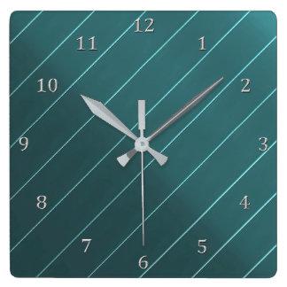 Relógio Quadrado Números diagonais das cinzas da listra do Pin do
