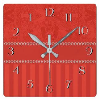 Relógio Quadrado O abstrato da cidade cronometra para trás o