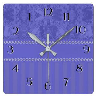 Relógio Quadrado O abstrato da cidade cronometra para trás o azul