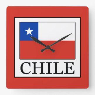 Relógio Quadrado O Chile