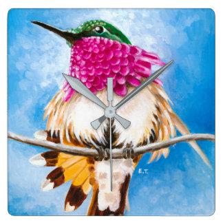 Relógio Quadrado O colibri da costela