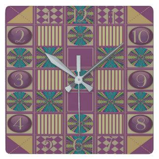 Relógio Quadrado O design profundo da edredão do abstrato do som