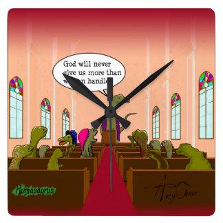 Relógio Quadrado O deus nunca dá-nos mais do que nós podemos segura