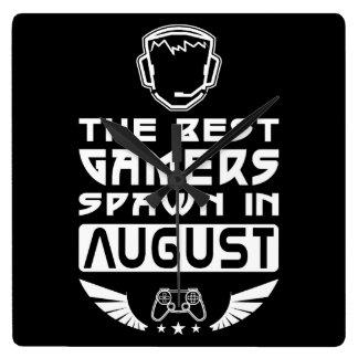 Relógio Quadrado O melhor Spawn dos Gamers em agosto