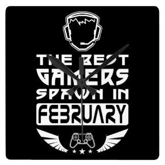 Relógio Quadrado O melhor Spawn dos Gamers em fevereiro