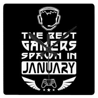 Relógio Quadrado O melhor Spawn dos Gamers em janeiro