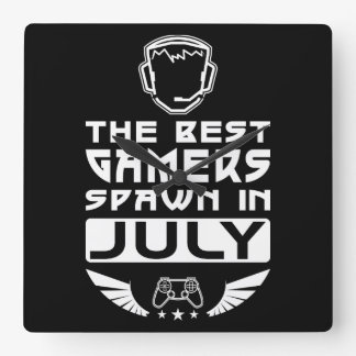 Relógio Quadrado O melhor Spawn dos Gamers em julho