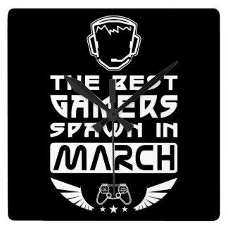 Relógio Quadrado O melhor Spawn dos Gamers em março