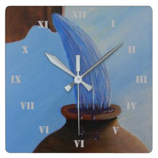 Relógio Quadrado O primeiro milagre, água no pulso de disparo de