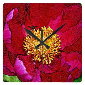 Relógio Quadrado O pulso de disparo da flor da abelha
