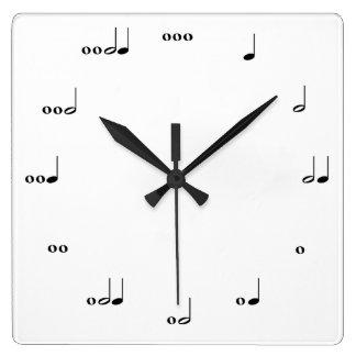 Relógio Quadrado O pulso de disparo da nota da música original