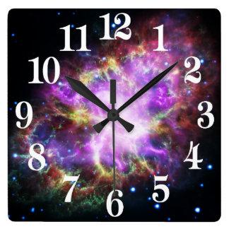 Relógio Quadrado O raio X de Chandra na nebulosa de caranguejo