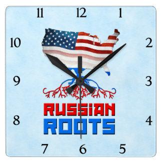Relógio Quadrado O russo americano enraíza o pulso de disparo de