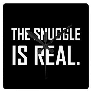 Relógio Quadrado O Snuggle é real