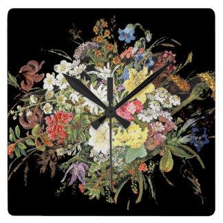 Relógio Quadrado O Wildflower alpino floresce o pulso de disparo de