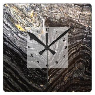 Relógio Quadrado Olhar de pedra natural moderno