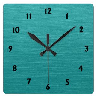 Relógio Quadrado Olhar escovado kash001 do metal da cerceta com