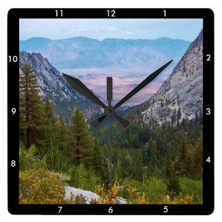 Relógio Quadrado Opinião #2 da fuga de Mount Whitney: Pulso de