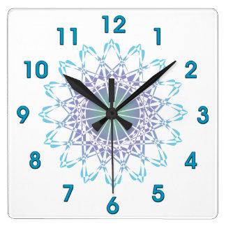 Relógio Quadrado Ornamento 9