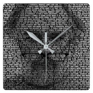 Relógio Quadrado Os segredos do sucesso
