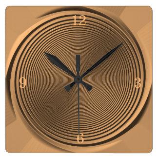 Relógio Quadrado Ouro/pulso de disparo do >Wall do design