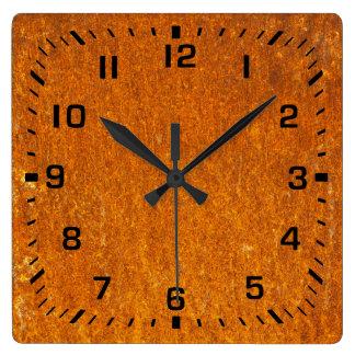 Relógio Quadrado Oxidado
