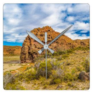 Relógio Quadrado Paisagem Patagonian, Argentina