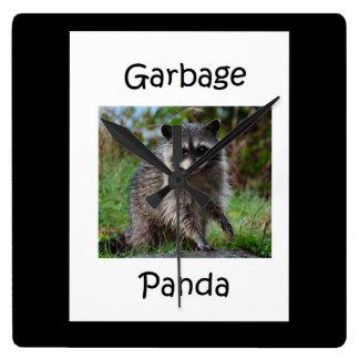 Relógio Quadrado Panda do lixo