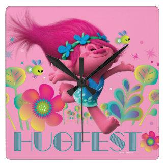 Relógio Quadrado Papoila dos troll   - Hugfest