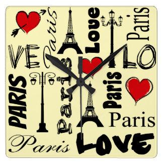 Relógio Quadrado Paris