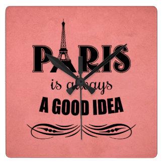 Relógio Quadrado Paris é sempre uma boa ideia