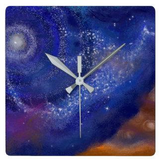 Relógio Quadrado pássaro da galáxia