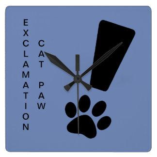 Relógio Quadrado PATA DO CAT DA EXCLAMAÇÃO! Pulso de disparo de