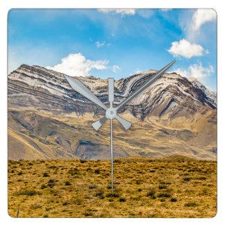 Relógio Quadrado Patagonia nevado Argentina das montanhas de Andes