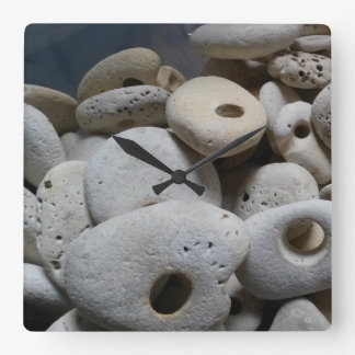Relógio Quadrado Pedras com o pulso de disparo moderno do quadrado