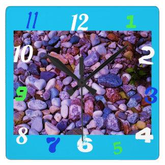 Relógio Quadrado Pedras legal