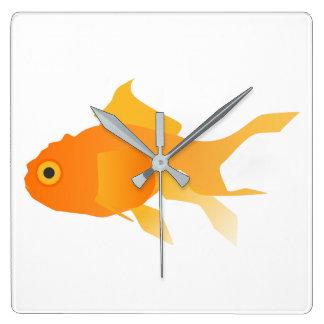 Relógio Quadrado Peixe dourado