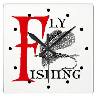 Relógio Quadrado Pesca com mosca com atração da pesca