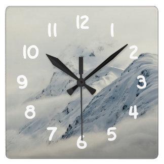 Relógio Quadrado Picos misteriosos de Chugach