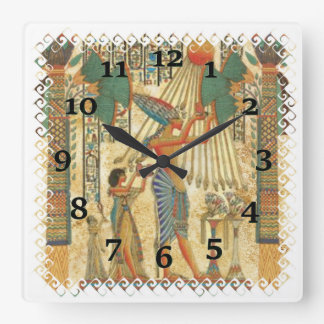 Relógio Quadrado Pintura egípcia