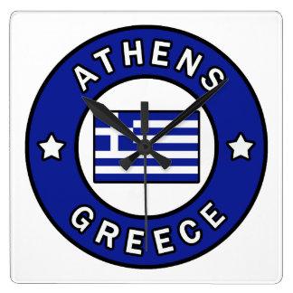 Relógio Quadrado Piscina de Atenas